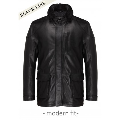 Leather jacket CG Luther with Collar out of lambskin / Outerwear CG Luther